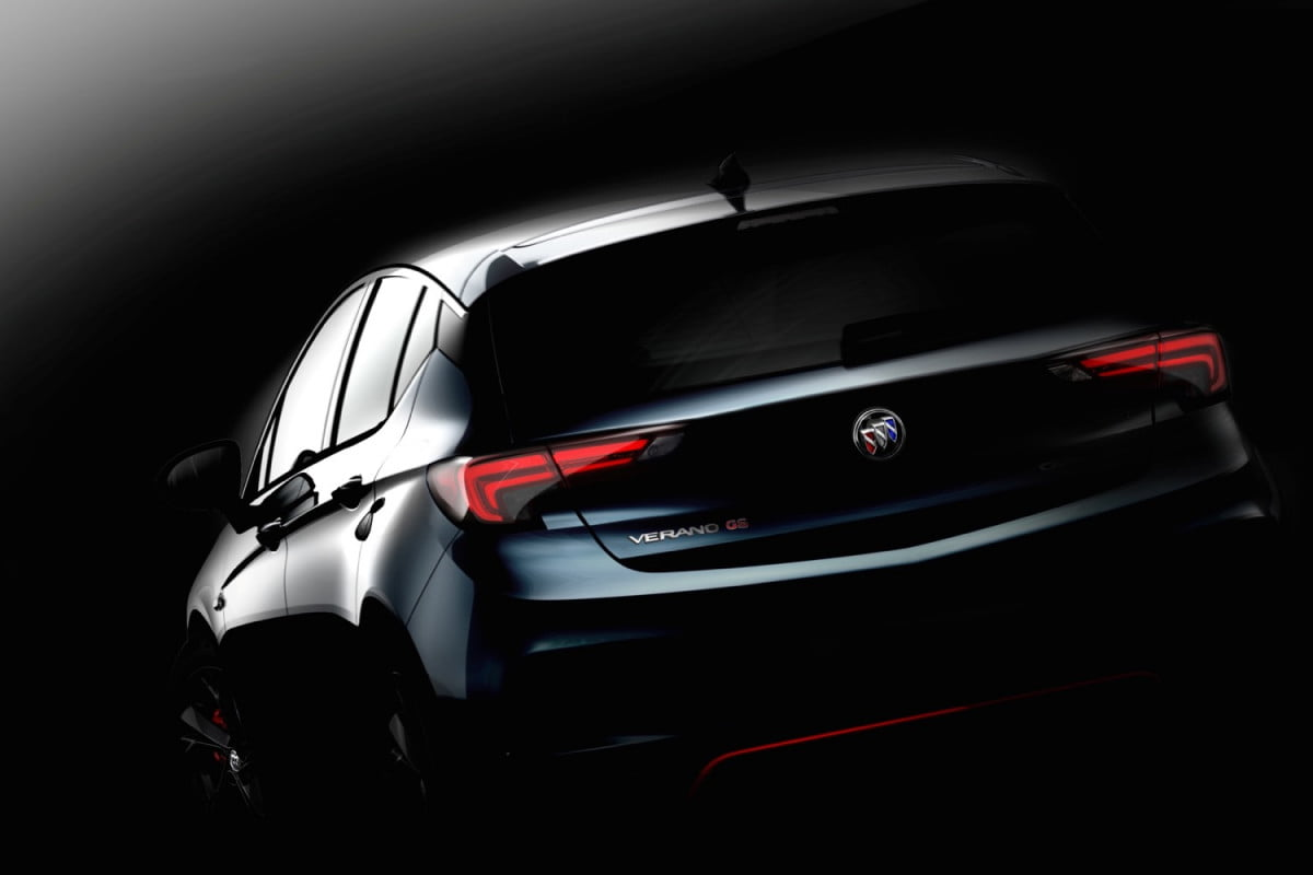 china is getting an opel astra based buick verano will the u s get it too hatchback teaser (chinese model)