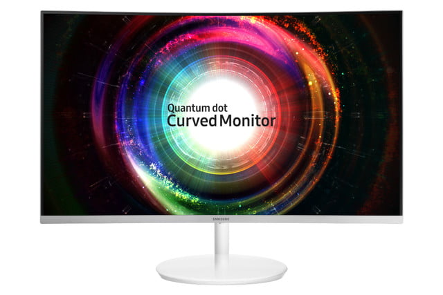 samsung introduces ch  quantum dot monitor c h front white