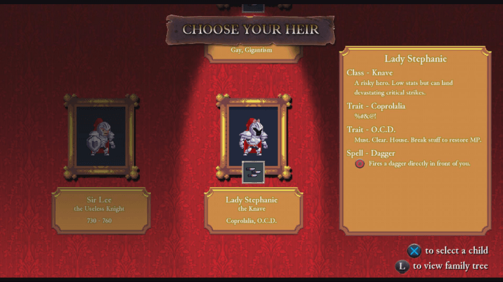rogue legacy review screenshot