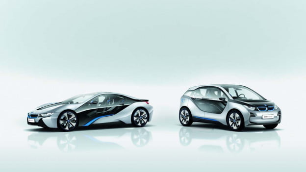 BMW i3 and i8 whitespace shot