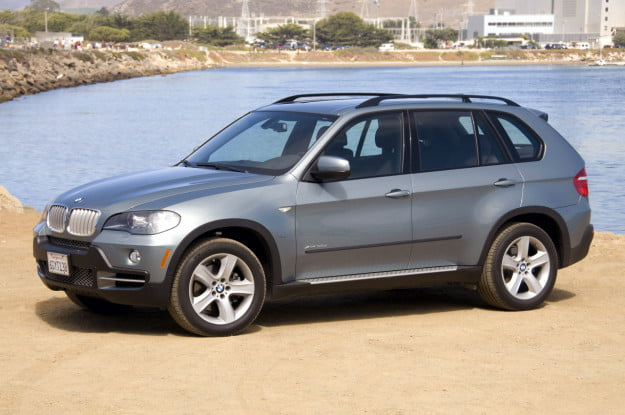 BMW X5 on a beach