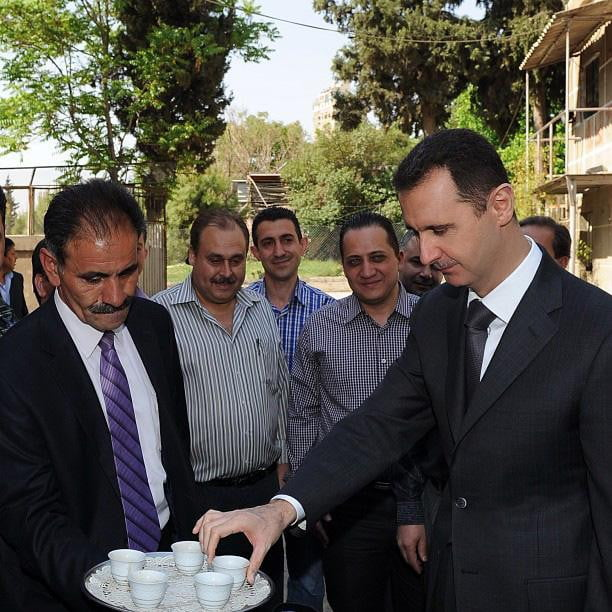 Bashar Al_Assad casual tea party