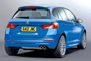 BMW 1 Series GT rear three-quarter view