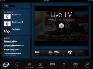CableVision Optimum app for iPad