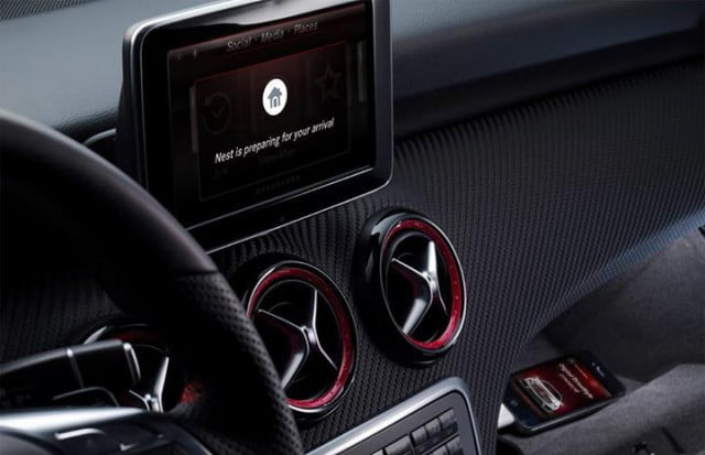 mercedes benz offers nest smart thermostat connectivity with