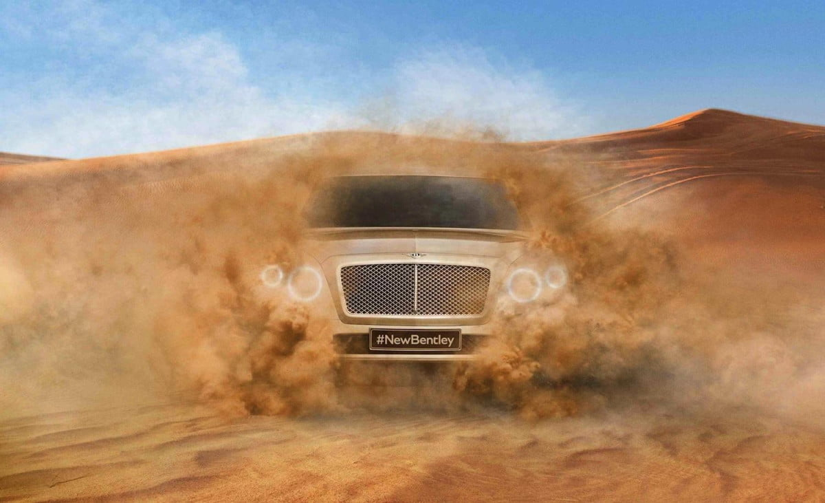 bentley suv could cost  when it goes on sale in teaser