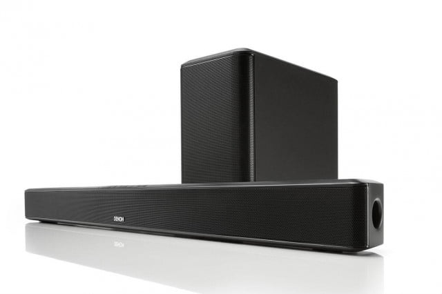 denon unveils first ever sound bar entry just time holiday reclusion  dht s product view with subwoofer xl edit