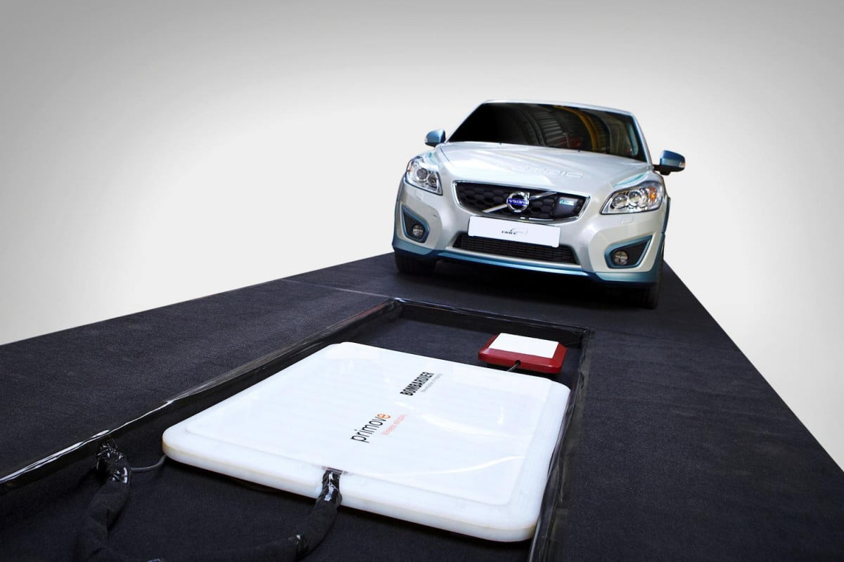 volvo recharges c  electric hours wireless inductive charger
