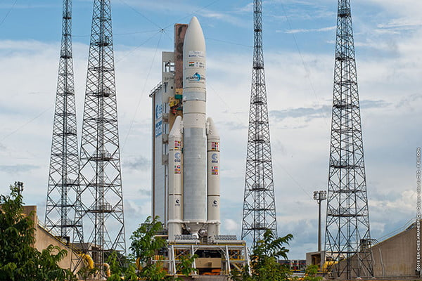 An Ariane 5 rocket on launch pad — November 2015
