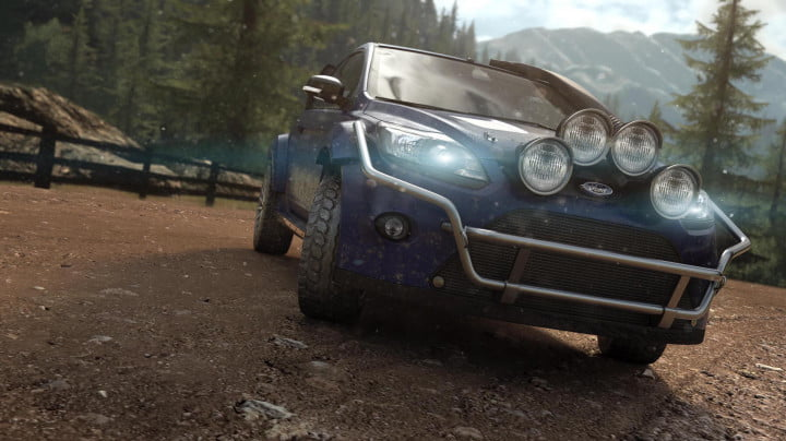 behind the wheel in ubisofts open world multiplayer racing game crew  thecrew render ford focus rs dirt nologo e pm