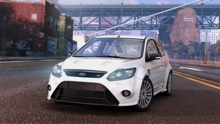 behind the wheel in ubisofts open world multiplayer racing game crew  thecrew render ford focus rs fullstock nologo e pm
