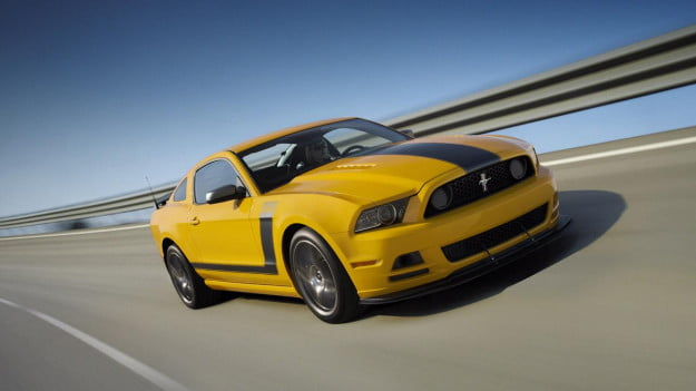 2013 Ford Mustang Boss 302 yellow