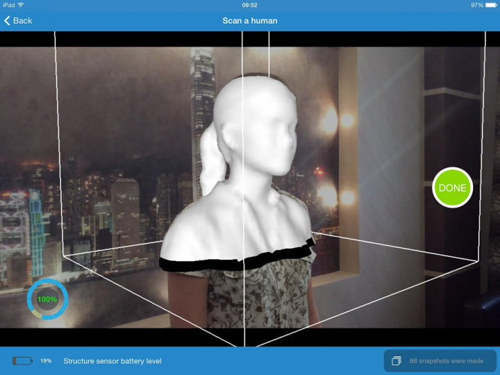 itseez d app puts ultra realistic  scanning ipad body scan