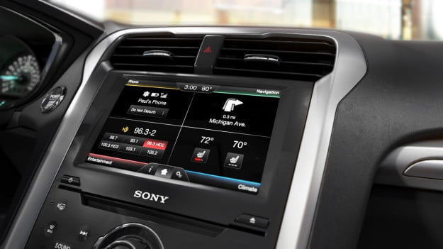 MyFordTouch home screen 2014 Fusion