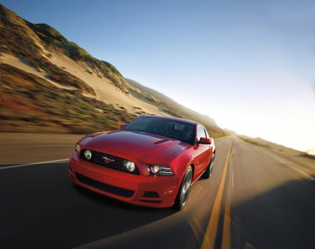2014 Ford Mustang action