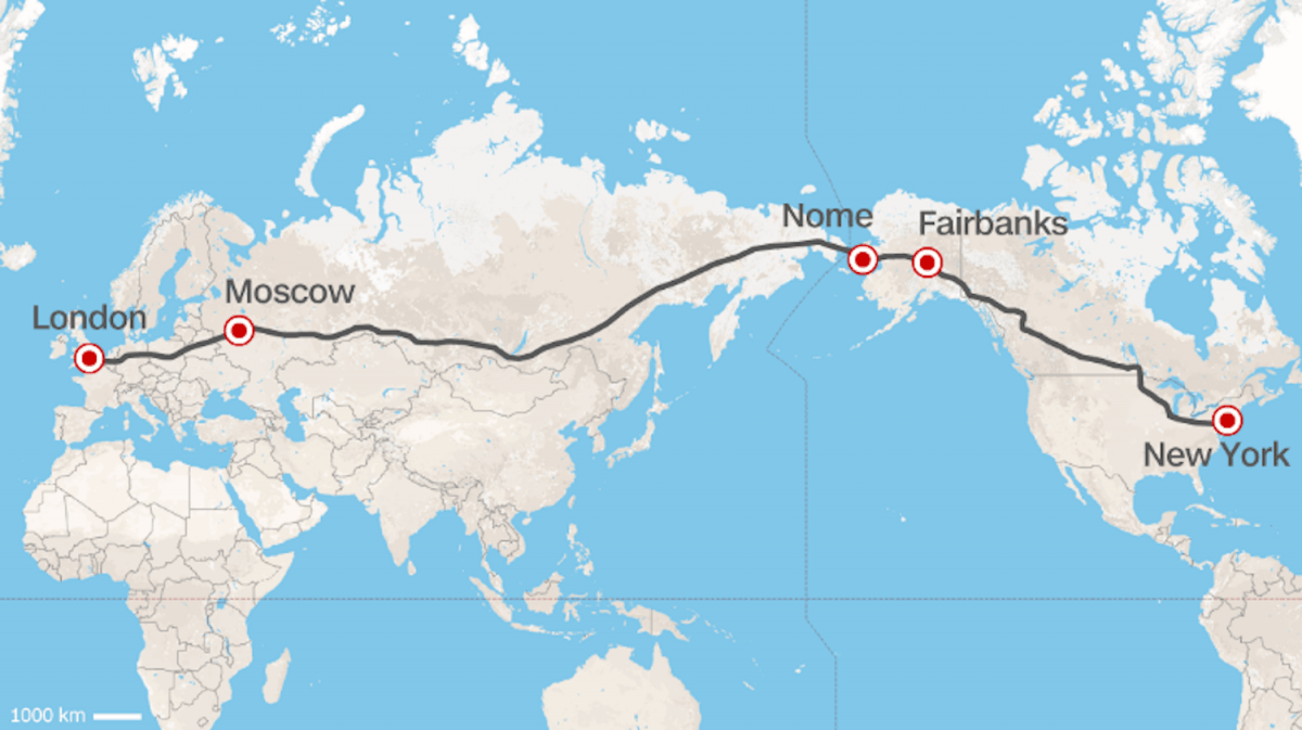 russian railways ceo proposes a trans continental highway siberian road map