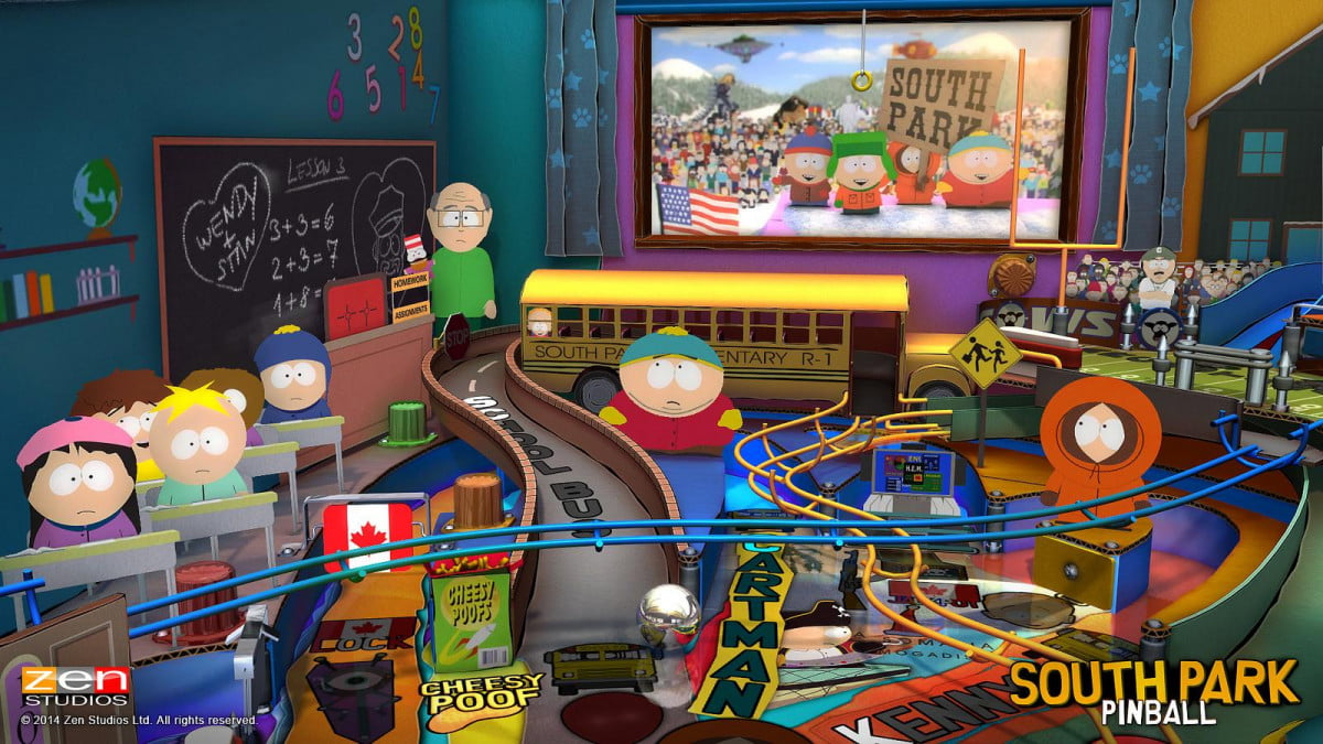 oh god tilted kenny south park comes zen pinball  b d c h