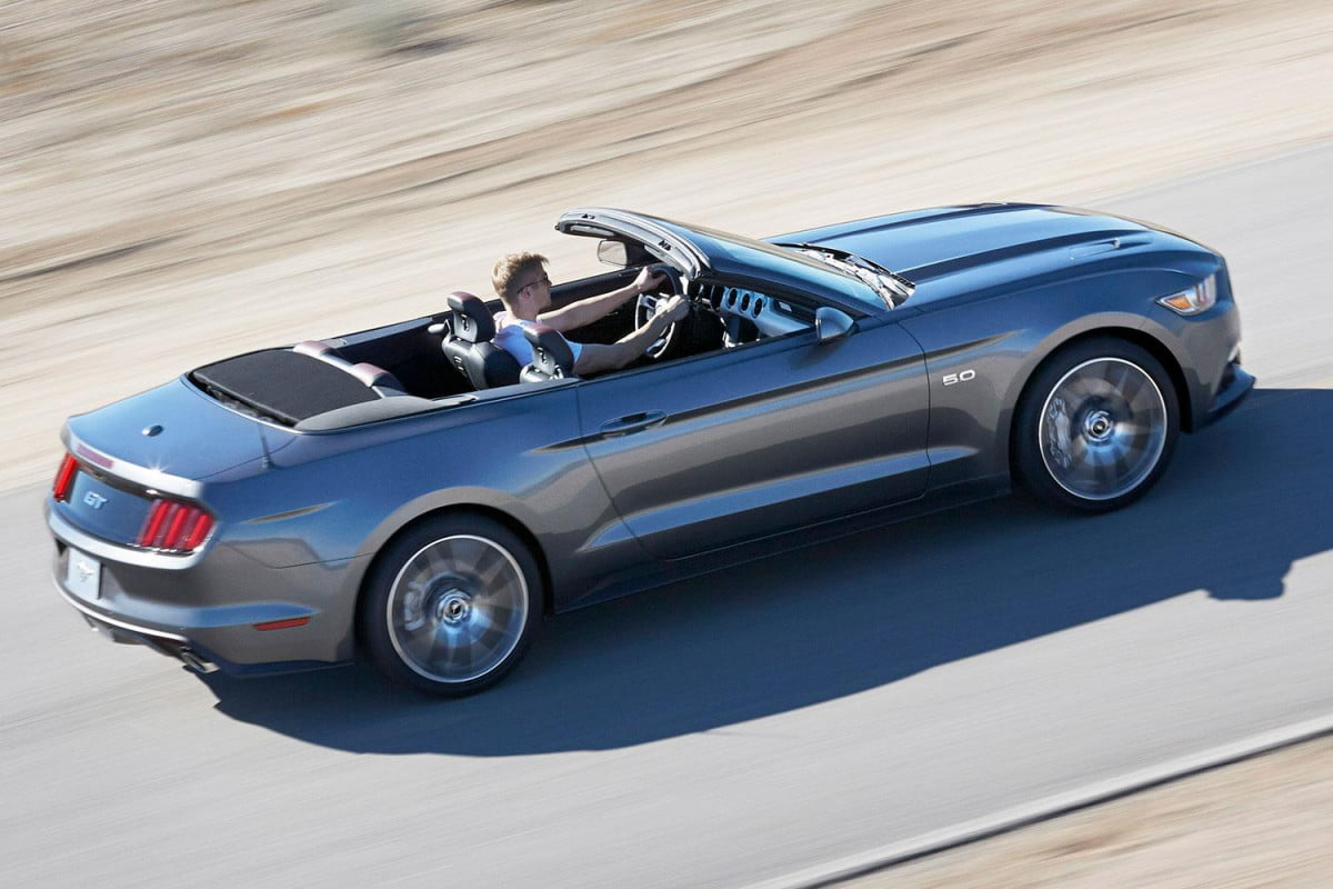 ford sells first  mustangs allocated europe mustang convertible