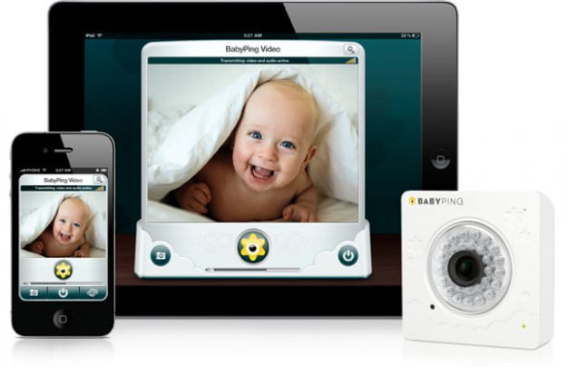 BabyPing webcam baby monitoring iOS system