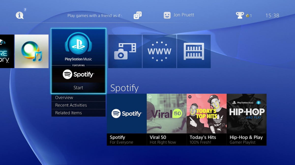 spotify playstation music launch playstion