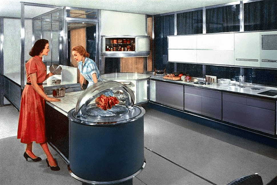 What the 1950s 39 kitchen of the future 39 got right and what for Kitchen set pinterest