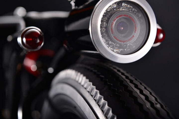 motorcycle security camera by chicara nagata  little honda p ca rear macro