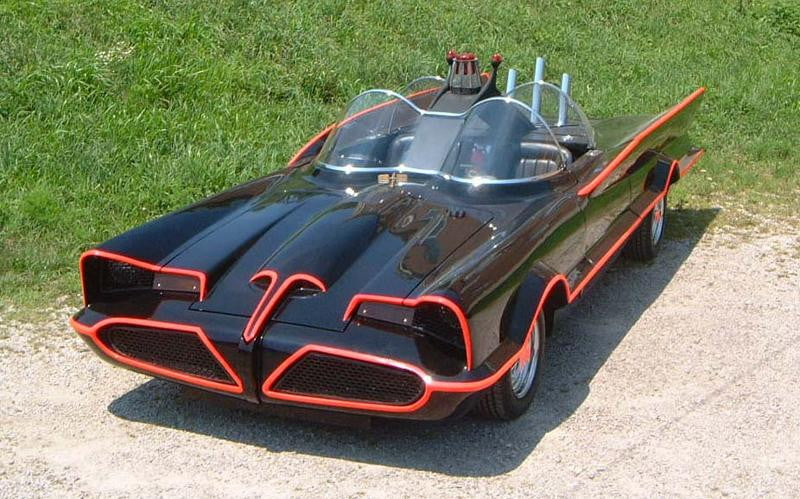 The original Batmobile from the 1960s was fittingly built on a concept car, the Lincoln Futura.