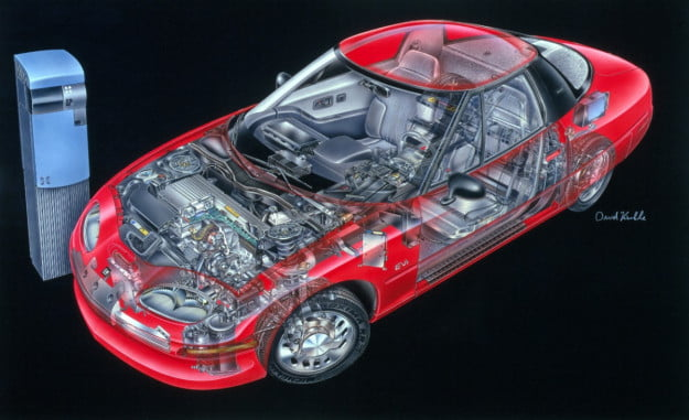 1996 General Motors EV1 cutaway