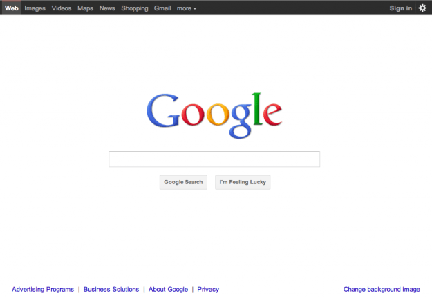 New Google Homepage