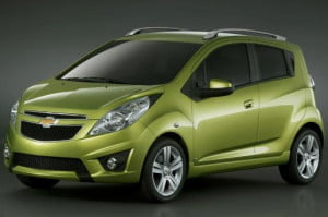 Chevy Spark front three-quarter gray background