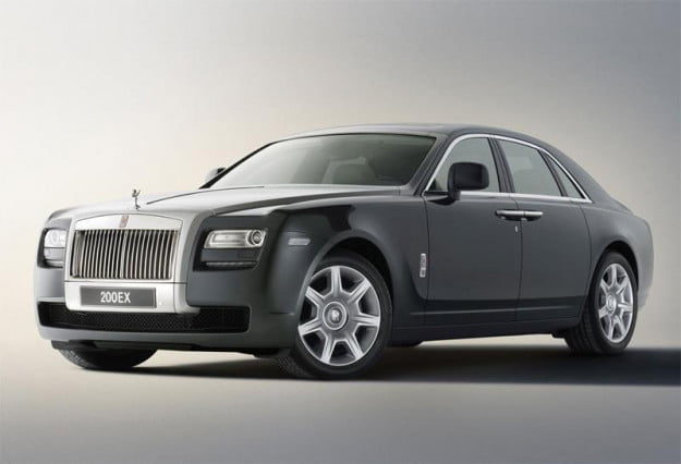 Rolls-Royce Ghost sedan front three-quarter view