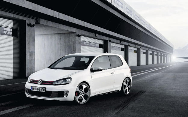 Volkswagen GTI Mark 6 front three quarter white