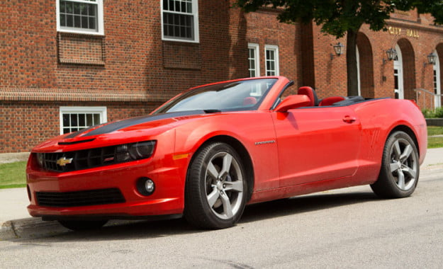 2011 Chevrolet Camaro SS Convertible front angle