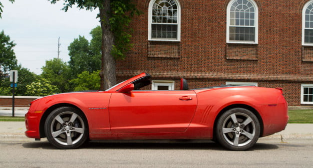 2011 Chevrolet Camaro SS Convertible side profile