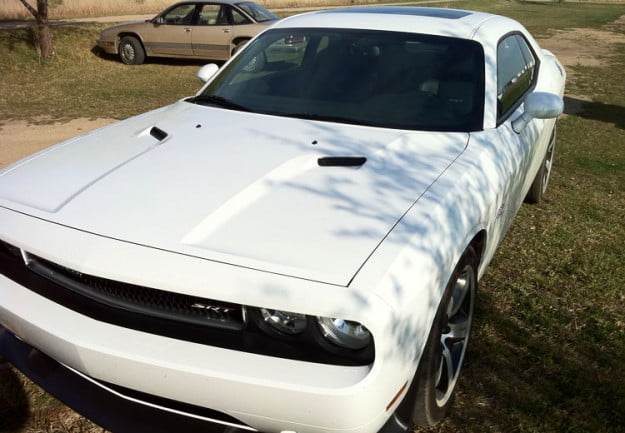 2011 Dodge Challenger STR8 Review hood