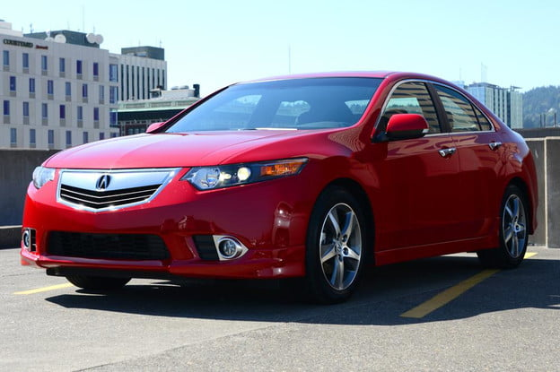 2012 Accura tsx exterior front left angle sedan review
