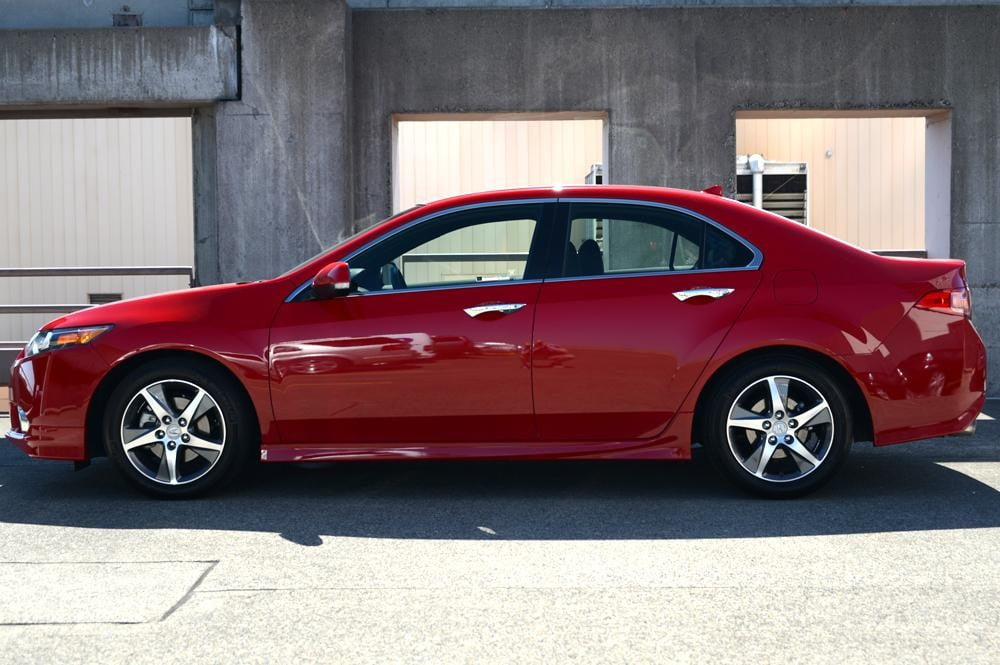 2012 accura tsx exterior left side sedan review. Black Bedroom Furniture Sets. Home Design Ideas