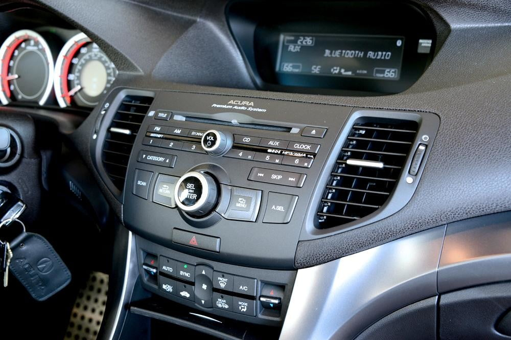 2012 Accura tsx interior middle dash sedan review