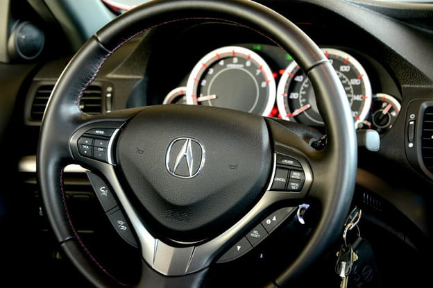2012 Accura tsx interior steering wheel sedan review