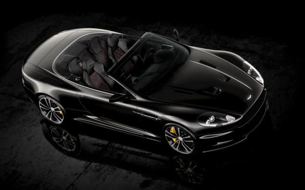 Aston Martin DBS Ultimate convertible overhead view