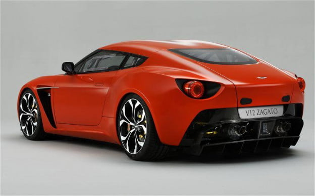 2012 Aston Martin V12 Zagato rear-three quarter view