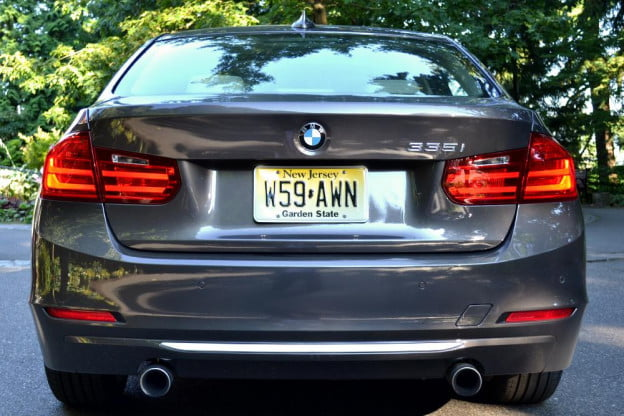 2012 BMW 335i review exterior back car review