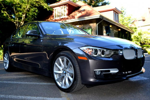 2012 BMW 335i review exterior front left angle car review