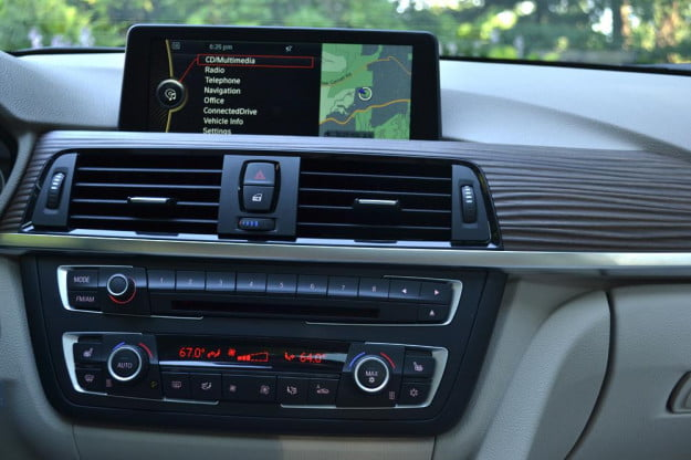 2012 BMW 335i review interior controls gps navigation system