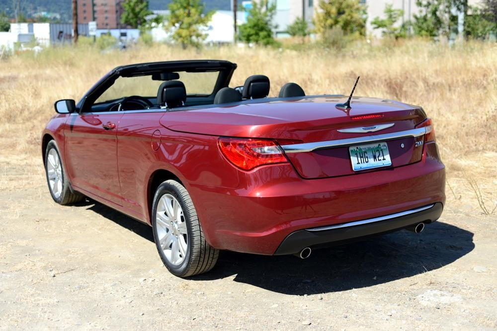 2012 Chrysler 200 Convertible review exterior back angle touring