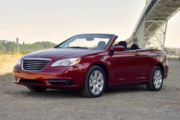 2012 Chrysler 200 Convertible review front side touring bridge