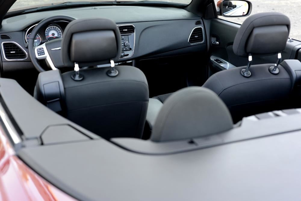 2012 Chrysler 200 Convertible review interior back angle touring