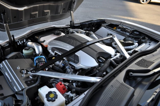Fisker Karma engine compartment