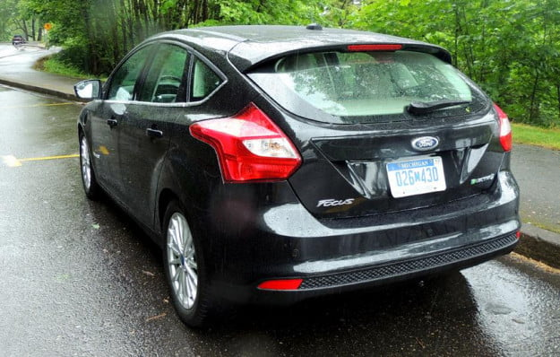2012 Ford Focus Electric drive impressions black rear