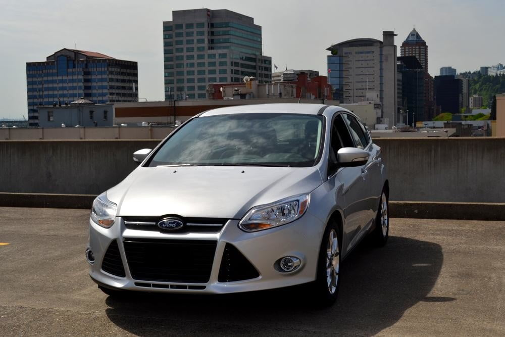 2012 Ford Focus SEL Review front angle city